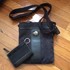 Coach crossbody with coin purse